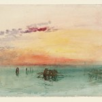 Venice: Looking across the Lagoon at Sunset 1840 by Joseph Mallord William Turner 1775-1851