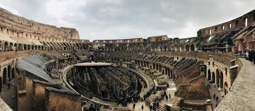 Il Colosseo e l'arena