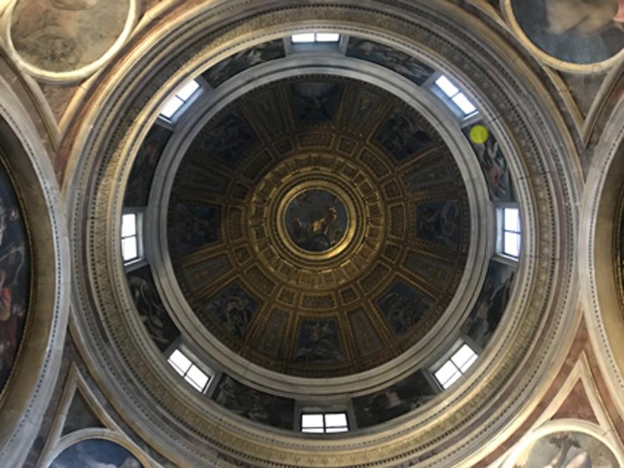 Cupola Cappella Chigi - Santa Maria del Popolo - Art Club Associazione culturale - visite guidate a Roma - Raffaello Sanzio a Roma